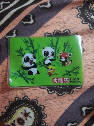 River safari card holder Singapore giant panda