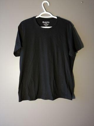 Bluenotes Basic Melange Crew Tee - Black