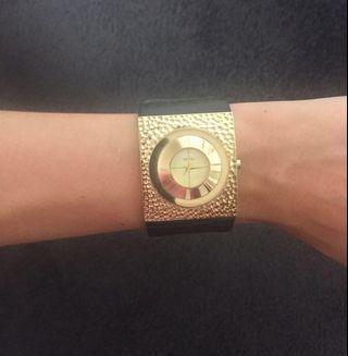 Mimco Black & Gold Watch.