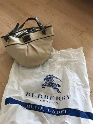 Burberry blue hand bags with dust cover