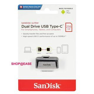 Sandisk Ultra TYPE-C OTG USB 2 in 1 Flash Drive 256GB 二合一隨身碟