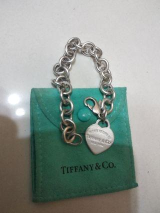Return to Tiffany 925 Heart Shape Bracelet