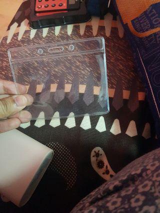 Clear card holder
