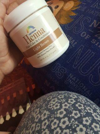 Rainbow henna light brown powder hair colour dye conditioner
