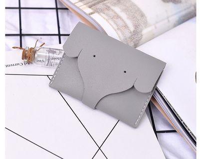 【Q夫妻】小象造型 鈔票夾 卡片夾 灰色  #BB502-2 #五十元好物