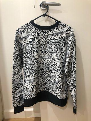 BlackMilk black and white print sweater