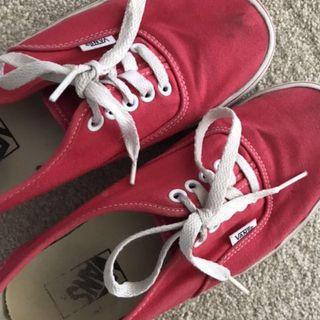 Authentic red vans - size men's US 7.5 and woman's size US 9