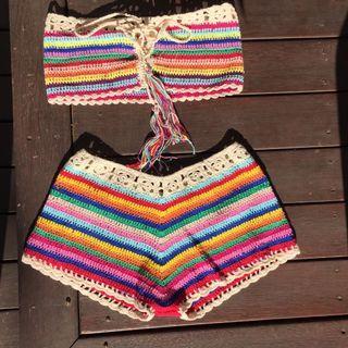 Rainbow crochet set 🌈