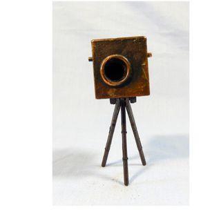 Vintage metal pencil sharpener camera circa mid 1900s used