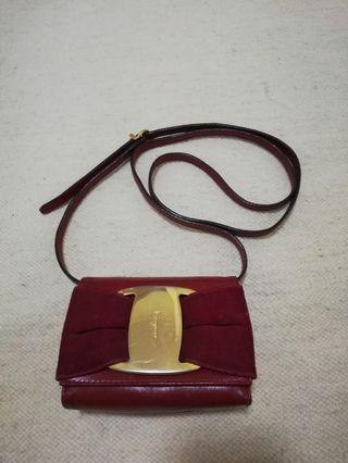 Ferragamo Leather Red Bag