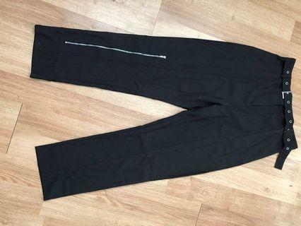 Pretty Little Thing Black Pants (never worn - size L)