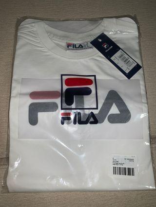 🚚 Authentic Fila White Logo Shirt New