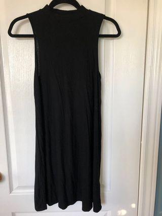 Top Shop Black Turtle Neck Dress (size 4)