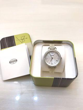 🚚 FOSSIL 法式大理石紋玻麗女錶 JR1409,34mm,全新未使用