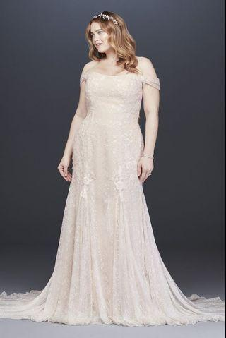 Mermaid wedding dress for curvy brides