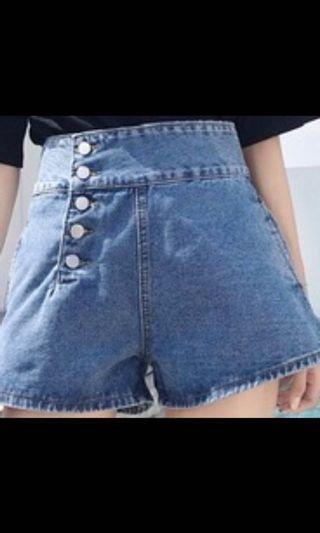 🚚 S~L都有喔 淺藍 深藍特殊排扣牛仔褲 「預購款」