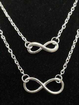 Infinity Love Silver Plated necklace