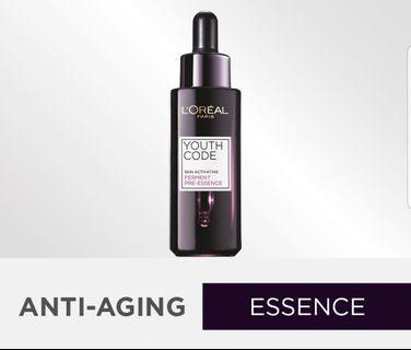 🚚 $25-$30 INSTOCK!  L'Oreal Youth Code Skin Activating Ferment Pre-Essence 30ml #MRTRaffles #MRTTampines #MRTBedok