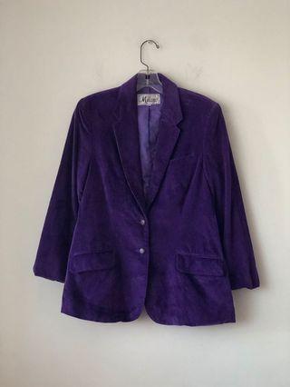 Vintage corduroy purple jacket