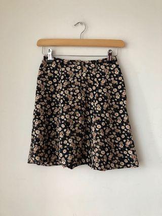 Vintage Jacob 90s floral print mini skirt