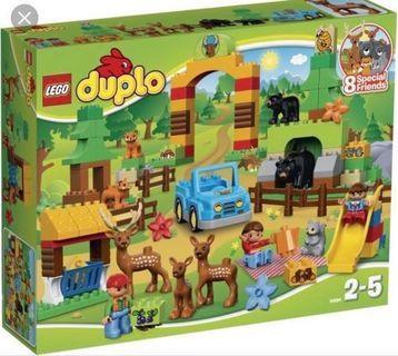 九成新LEGO DUPLO 野生動物園