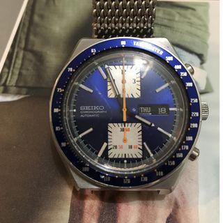 """Vintage Seiko 6138-0030 """"Kakume"""" chronograph watch"""