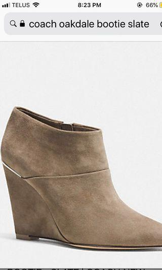 *Reduced Price* Coach Oakdale Suede Bootie 8.5
