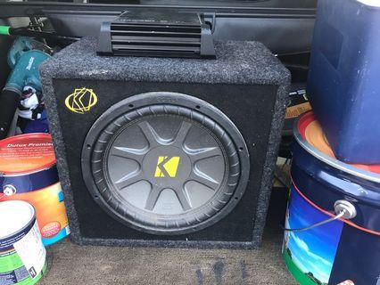 Kicker Car Subwoofer and Amplifier