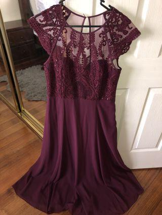 Forever New Embellished gown size 12