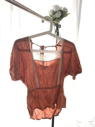 Forever21 Brown Poca Top