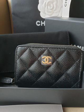 ***SOLD **** Chanel Classic Cardholder Zippy
