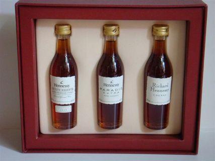 早期軒尼詩2000年代東方快車一套三枝50ml酒版(包括有李察,1873及杯莫停)唯一李察及杯莫停才有酒版