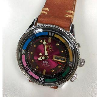 ORIENT SK Classic design / Coin Bezel Automatic Red - Violet Watch (Mint Vintage)