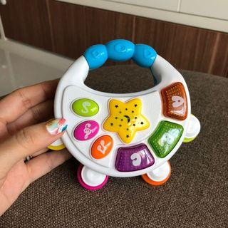 Musical Toy baby music tambourine night star lights projection