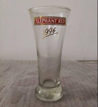 Elephant Red 1996 glass cup