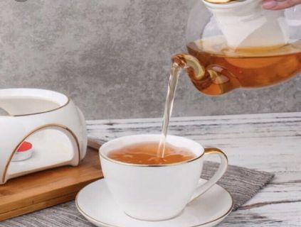 🚚 居家生活 咖啡杯 花茶杯 白磁杯 氣質簡約 下午茶組