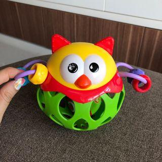 Baby Owl Roll Around Rattle Teething Ball Toy Hand Safe Newborn Hand Grasp Appeased Ball Baby Teething Toys