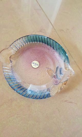 soga日本玻璃點心盤