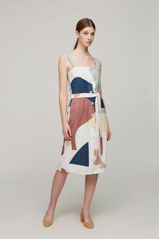 Our Second Nature Roadmap Straight-Cut Dress XS