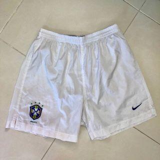 Authentic Brazil Nike Vintage Jersey Shorts 4 Stars Rare M