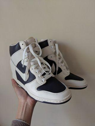 Nike Women's Dunk Sky HI wedge heels