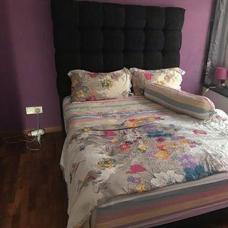 Black Velvet Queen Size Bedframe