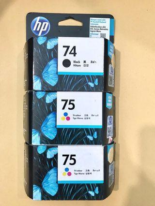 Tinta Printer HP 74,75,75