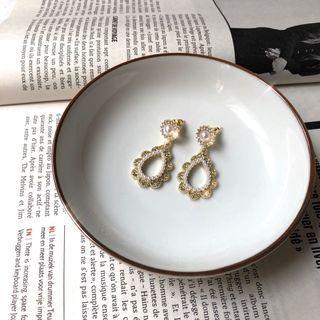 巴洛克宮廷珍珠蕾絲耳環