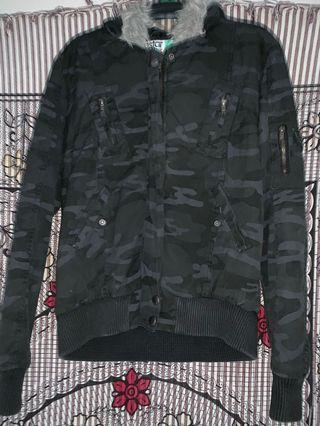 Black camo jacket size 12