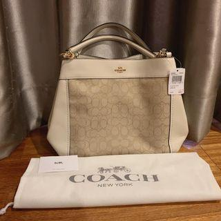 AUTHENTIC TAS COACH LEXY SMALL SIGN CHALK