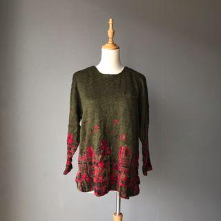 Knitted top printed