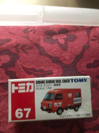 Tomy 日本郵政車(左前轆有少少黑色)