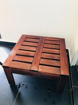 Solid Square Wooden Table