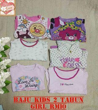 Baju kids 2 tahun girl
